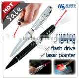 new Christmas products 2014 ! 4 in 1 laser pointer ball pen and led light pen usb flash drive