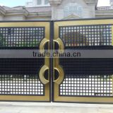 steel gate, metal gate, forged iron gate, house steel main gate, sale tubular grills steel gate