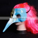 painted venetian masquerade mask, Halloween long nose mask