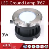 CE ROHS certification IP67 STAINLESS STEAL outdoor led lamp garden lighting Housing Water Proof 3W LED Ground Lamp