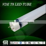Hot new products 2015 round PC cover inner aluminum led tube light 1.2m 18w with VDE certification