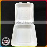 Easy open biodegradable disposable food container box