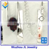 11*13MM Synthetic Black OP33 Opal Hamsa Shape 925 Sterling Silver Chain wholesale Necklace