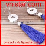 Vnistar interchangeable tassel snap button earring jewelry wholesale NE011-4