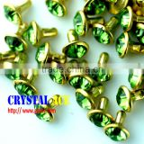 Shining Close end acrylic crystal rivets diamond Rivet, diamond rhinestone rivet for bags