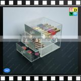 Clear acrylic makeup storage organizers with diamond and 3 tiers/layers drawers cosmetic display