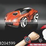 Kids Gift Rechargeable Voice Control Car Voice Command by Smart Watch Creative Voice-activated Remote Control RC Car