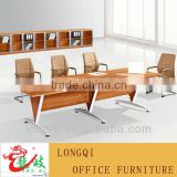 hot sale high quality modern metal frame wooden office meeting room desk wood conference table