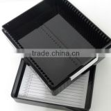 black microscope plastic slide open box