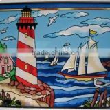 Nautical Stained Glass Sun Catcher Wall Hanging For Home Decor                                                                         Quality Choice