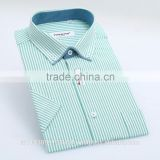 fashional new formal button down collar mens short sleeve stripes dress shirt