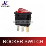round rocker switch 2pins 3pins rocker switch red round button on off on on 2P 6A 250V AC