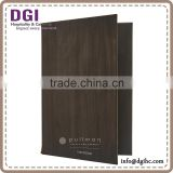 Menus Hong Kong restaurant equipment supplies provided high quality A4 menu dessert real leather menu cover