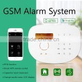 2016 newest cheap wireless gsm alarm system s2g support door sensor,pir motion,smoke detector and wifi ip cameras