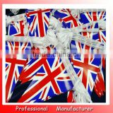 triangle flag bunting,E-co friendly polyester flag,12pcs string of Uk national flag