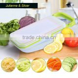 Mandoline Slicer with 4 Blades, Vegetable Cutter Onion Slicer Carrot Grater, Vegetable Food Container