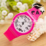 Stock!Wholesale China Ebay Best Selling Watches Hot Sale Simple Design Good Christmas Birthday Gift Cute Plastic Wrist Watch