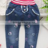 2015 new style kid jeans with print, many styles