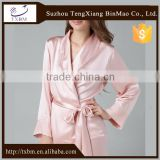 100%mulberry silk pajamas for lady, fashion belt style silk nightgown, soft and smooth silk sleepwear