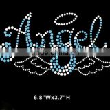 Beautiful angel wings hotfix iron-on motifs,hot fix heat transfer sticker