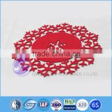 handmade felt snowflake christmas placemat oval table placemats made in China