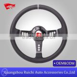 Auto Accessories Supplier in Guangzhou China Classic 3-Hole Spoke 14inch Racing Style Steering Wheels