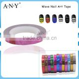 ANY Wave Nail Art DIY Decoration Plastic Pink Nail Stripping Sticker Rolling Tape
