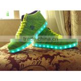 2016 Canton Fair Hot Sale Fashion Knit Upper LED Light up Shoes