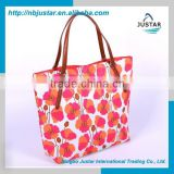 Custom Stocks cotton flower handbags wholesale fashion cotton tote bag designer flower shopping bag