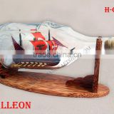 GALLEON SHIP IN HENESSY BOTTLE, UNIQUE NAUTICAL DESIGN FROM VIETNAM- HANDMADE SHIP MODEL