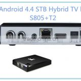 Android 4.4 TV converter box S805 1080p full HD android DVB-T2 Hybrid set top box wifi TV smart box