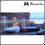 Custom 8m inflatable sky missile/giant inflatable helium aerostat for advertising