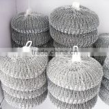 hot new products for 2015 hot sell crimped wire mesh stainless steel cleaning ball, galvanised wire scourers