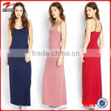 2016 Latest spaghetti design maxi dress woman sex wear design , mature woman wear