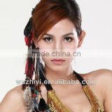 Tribal style Belly Dancing Costumes Decorations Feather Fashion Head wear for Female Dancer (T26)