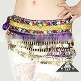 Velvet belly dance belts belly dance hip scarf wholesale
