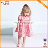 Baby Clothes Manufacturer Wholesale Summer 100% Cotton Short Sleeve Fancy Dresses For Baby Girls