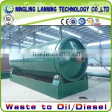 14mm/16mm thickness reactor waste tyre pyrolysis to fuel oil plant