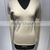 BGAX16095 V Neck Woolen Sweater , Slim Fit High Quality Pure Wool Knitted Pullover With Beading
