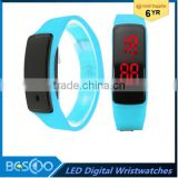 Fashion Sport led Touch Running Bracelet Digital Watch Wrist Watch Children Clock Silicone Bangle