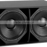1200W Power Woofer For Music Performance/Dual 18 inch Pro Subwoofer/ Professional Passive Speaker