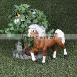 realistic Taxidermy Replica furry aninal figurines running horse animation