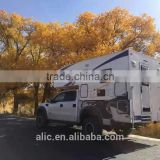 pickup truck king camper caravan motorhome,secured on cargo body