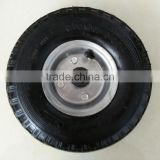 wood wagon wheelbarrow rubber wheel 3.00-4