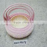 Set of three Paper rope gift storage basket for Easter