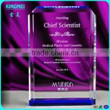 clear k9 crystal award trophies plaques,blank glass crystal awards plaque