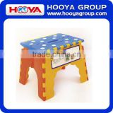 Plastic Folding step stool With Bathroom folding step stool with Handle EVA non-slip dot