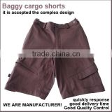 Mens camo cargo shorts Baggy 3/4 Cargo Shorts