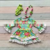children frocks designs baby clothes animal new Summer girl lace floral print dress
