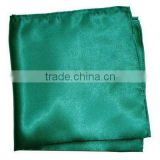 polyester hankies in turquoise